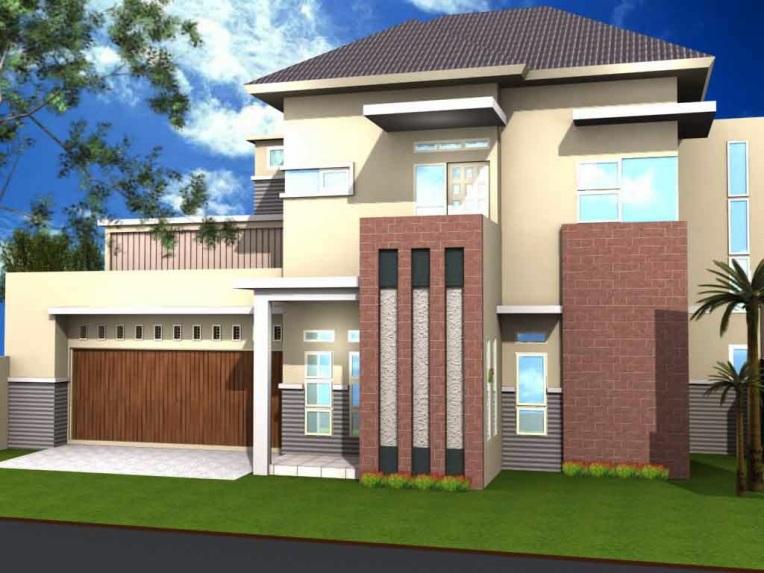 Kombinasi Warna Cat Dulux  warna cat rumah minimalis atap biru 2020 rumah minimalis